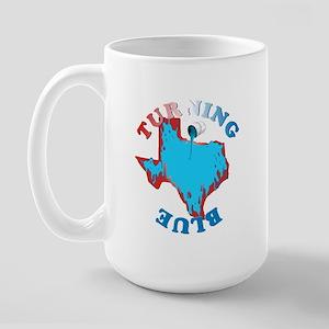 Turning Texas Blue Large Mug