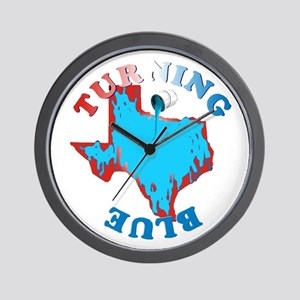 Turning Texas Blue Wall Clock
