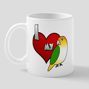 I Love My White Bellied Caique Mug
