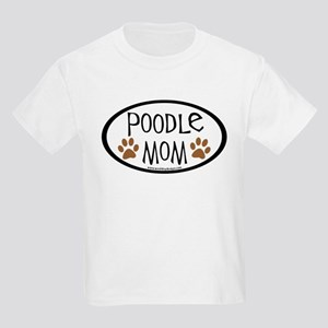 Poodle Mom Oval Kids Light T-Shirt