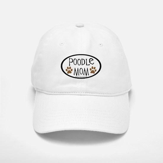 Poodle Mom Oval Baseball Baseball Cap
