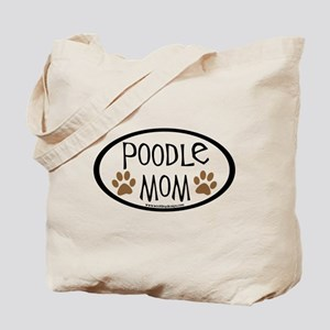 Poodle Mom Oval Tote Bag
