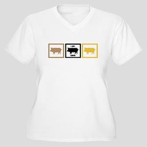 I Love Pork Adobo Women's Plus Size V-Neck T-Shirt