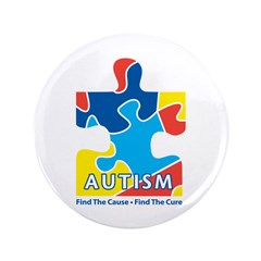 """Autism Awarness Puzzle 3.5"""" Button (100 pack)"""