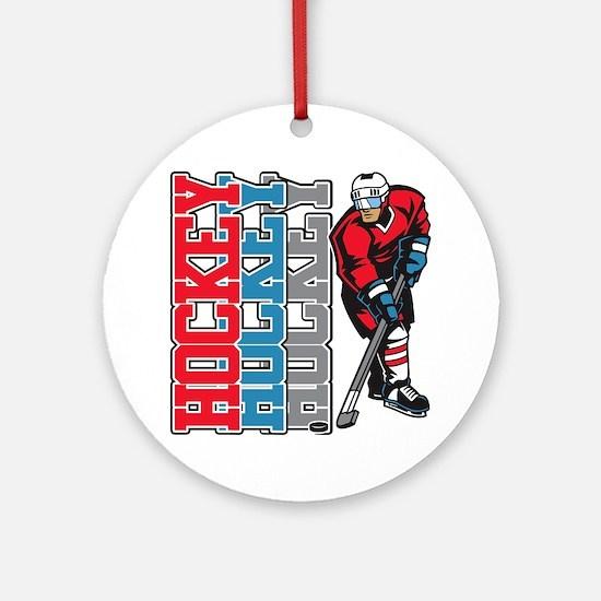 Hockey Sport Ornament (Round)