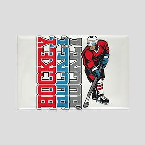 Hockey Sport Rectangle Magnet (10 pack)