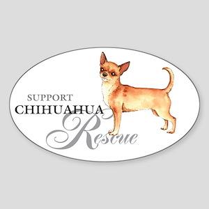 Chihuahua Rescue Oval Sticker