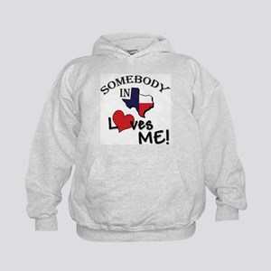 Somebody in Texas Loves Me Kids Hoodie