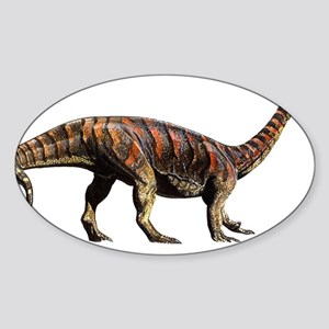 Plateosaurus Jurassic Dinosaur Oval Sticker