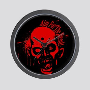 Aim for the Head - Red&Black Wall Clock