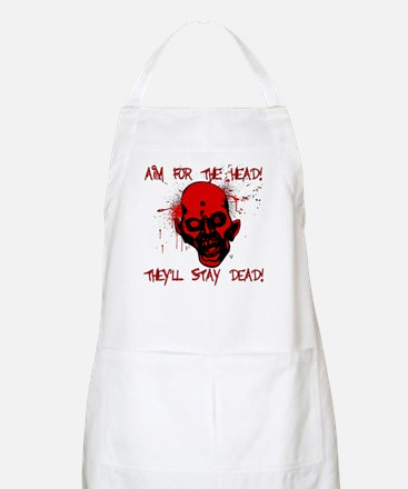 Aim for the Head! Stay Dead! BBQ Apron