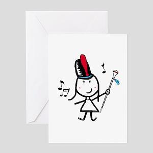 Girl & Drum Major Greeting Card