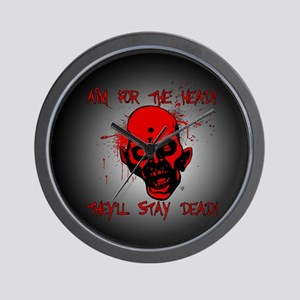 Aim for the Head! Stay Dead! Wall Clock