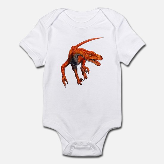 Velociraptor Raptor Dinosaur Infant Bodysuit