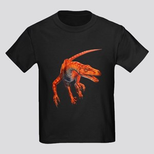 Velociraptor Raptor Dinosaur Kids Dark T-Shirt