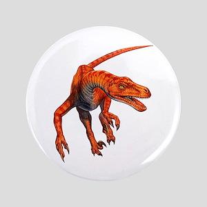 "Velociraptor Raptor Dinosaur 3.5"" Button"