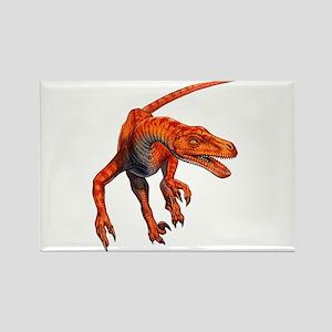 Velociraptor Raptor Dinosaur Rectangle Magnet