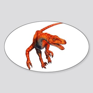 Velociraptor Raptor Dinosaur Oval Sticker