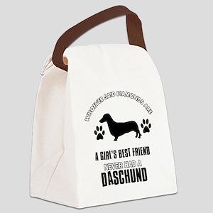 Daschund Designs Canvas Lunch Bag