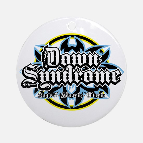 Down Syndrome Tribal Ornament (Round)