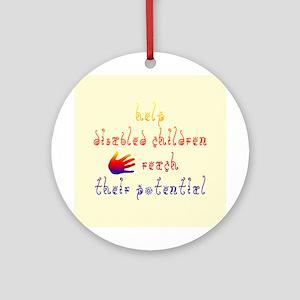 Disabled Children Ornament (Round)