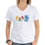 Si a la paz en Colombia Women's V-Neck T-Shirt