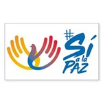 Si a la paz en Colombia Sticker (Rectangle)