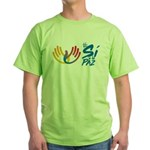 Si a la paz en Colombia Green T-Shirt