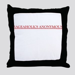 Rageaholics Anonymous Throw Pillow