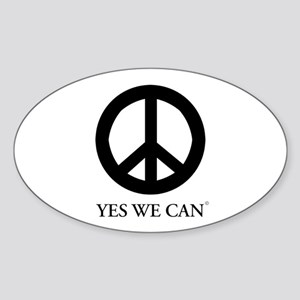 Yes We Can Oval Sticker