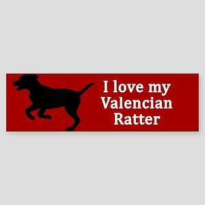 Valencian Ratter Dog Love Bumper Sticker