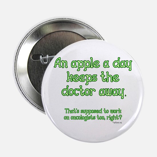 """Apple A Day 2.25"""" Button"""