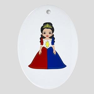 Philippine Princess Oval Ornament
