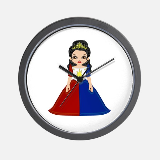 Philippine Princess Wall Clock