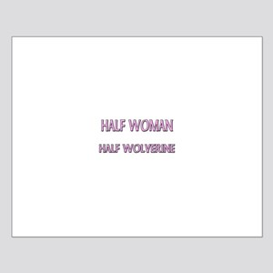 Half Woman Half Wolverine Small Poster