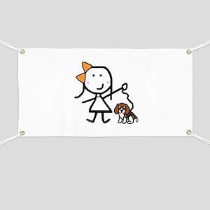 Girl & Beagle Banner