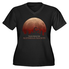 Tales from t Women's Plus Size V-Neck Dark T-Shirt