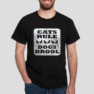 Cats Rule Dark T-Shirt