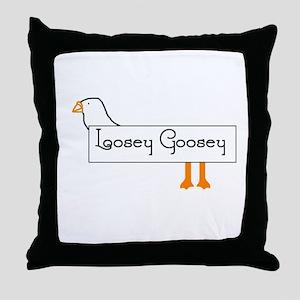 Loosey Goosey Throw Pillow