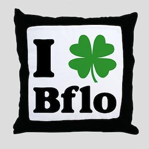 I Sham Bflo Throw Pillow