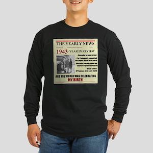 born in 1943 birthday gift Long Sleeve Dark T-Shir