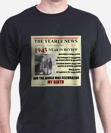 born in 1943 birthday gift T-Shirt