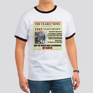 born in 1943 birthday gift Ringer T