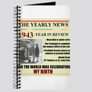 born in 1943 birthday gift Journal