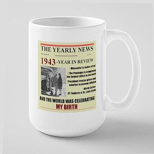 born in 1943 birthday gift Large Mug
