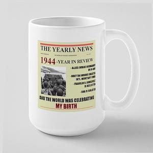 born in 1944 birthday gift Large Mug