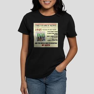 born in 1945 birthday gift Women's Dark T-Shirt