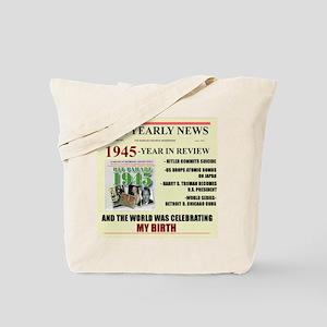 born in 1945 birthday gift Tote Bag