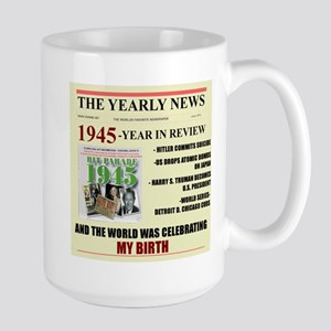 born in 1945 birthday gift Large Mug