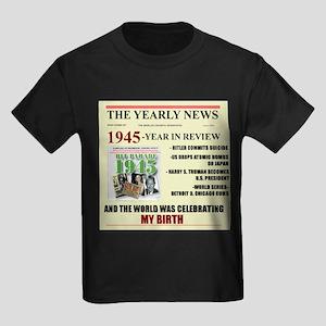 born in 1945 birthday gift Kids Dark T-Shirt